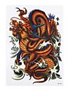 8pcs tatoo de dragon image totem design classique decalque art corporel temporaire du bras papier pate autocollant faux tatouage amovible