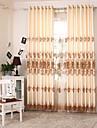 Två paneler Europeisk Lappverk Enligt bilden Living Room Polyester Panelgardiner draperier