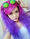 mode naturliga vågor av hög kvalitet blandad färg syntetiskt hår