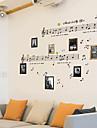 Musik Stilleben Mode Vintage Fritid Väggklistermärken Väggstickers Flygplan Dekrativa Väggstickers Material Kan tas bort Hem-dekoration