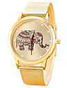 Women/Men's Stainless Steel Gold Band Analog Elephant Case  Wrist Watch Jewelry Fashion Watch