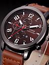 Bărbați Ceas Militar Ceas La Modă Quartz Calendar Piele Bandă Casual Negru Maro Portocaliu Albastru Închis Maro Rosu Roșu Închis