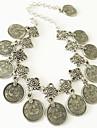Dame Brățară Gleznă/Brățări Aliaj Design Unic La modă Vintage Bohemia Stil Sculptat Flower Shape Bijuterii Argintiu Femei Bijuterii