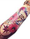Series de fleur Non Toxique Motif Grande TailleHomme Femme Adulte Adolescent Tatouage Temporaire Tatouages temporaires