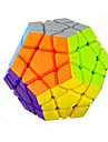 Yongjun® Slät Hastighet Cube Megaminx Hastighet Magiska kuber Regnbåge ABS