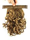 longueur blond 28cm perruque synthetique boucles fil a haute temperature bobine contracter couleur queue de cheval pelucheux 2005