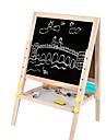 trä dubbel lyft magnetisk ritbordet, 2,9 kg justerbar höjd, barn ritbordet