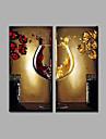 HANDMÅLAD Abstrakt / Landskap olje~~POS=TRUNC,Moderna Två paneler Kanvas Hang målad oljemålning For Hem-dekoration