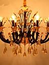 Lustre ,  Contemporain Autres Fonctionnalite for Cristal Style Bougie Metal Salle de sejour Chambre a coucher Salle a manger