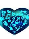 bluezoo kärlek blå nail art stämpling (12)