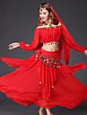 Shall We Belly Dance Outfits Women 4 Pieces Skirt Top Veil Belt
