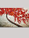 Peint a la main Nature morte / A fleurs/Botanique Peintures a l\'huile,Modern / Pastoral Un Panneau Toile Peinture a l\'huile Hang-peintFor