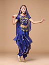 Belly Dance Women\'s Performance Fashion Chiffon Sequins 4 Pieces Outfits Dance Costumes