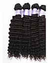 3st / lot brasilianska jungfru hårweften djup våg obearbetade djup våg mänskliga hårförlängningar