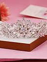 Femei Argint veritabil Ștras Diadema-Nuntă Ocazie specială Tiare 1 Bucată