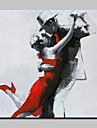 Peint a la main Personnage Peintures a l\'huile,Modern Un Panneau Toile Peinture a l\'huile Hang-peint For Decoration d\'interieur