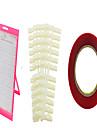 60 färg spik manikyr verktyg passar dammtät färg plattor tavla + 120 spik tvåsidig limstift