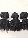 3 delar Kinky Curly Human Hair vävar Mongoliskt hår Human Hair vävar Kinky Curly