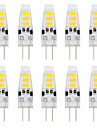 1W G4 LED a Double Broches T 6 SMD 5733 80 lm Blanc Chaud / Blanc Froid Decorative DC 12 V 10 pieces