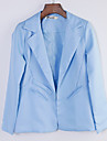 Women\'s All Match Solid Slim Blazer , Casual / Work Peaked Lapel Long Sleeve
