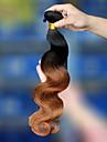 """cara 1 st mycket 10 """"-26"""" # 1BT # 30 brasilianska ombre hårförlängningar 7A jungfru hår vågigt människohår väva buntar"""