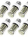 10W E12 / E26/E27 LED-lampa T 108 SMD 5733 950 lm Varmvit / Kallvit Dekorativ AC 110-130 V 6 st