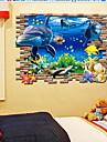 3D Wall Stickers Väggstickers i 3D Dekrativa Väggstickers,pvc Material Kan ompositioneras Hem-dekoration vägg~~POS=TRUNC