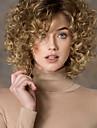la mode or blond mix a court boucles perruques synthetiques des femmes pour les femmes