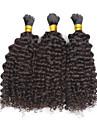 Tissages de cheveux humains Cheveux Mongoliens Ondulation Lache 6 Mois 3 Pieces tissages de cheveux