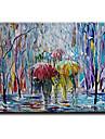 HANDMÅLAD Abstrakt Moderna / Klassisk / Traditionellt / Realism / Medelhavet / Parfymerad / Europeisk Stil,En panel KanvasHang målad