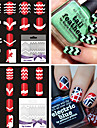 21 Autocollant d\'art de clou Trousse a outils Manucure Pochoir Abstrait Adorable Punk Maquillage cosmetique Nail Art Design