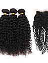 Trame cheveux avec fermeture Cheveux Bresiliens Tres Frise 4 Pieces tissages de cheveux