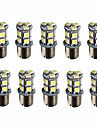 10pcs 1156 13smd 5050 frein de couleur blanche lampe ampoule de lumiere de signal queue de tour automatique a conduit la lumiere de