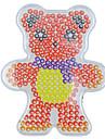 1pcs modele perles Perler clairement panneau perfore motif d\'ours de foulard pour perles hama 5mm perles fusibles