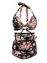 Femei Bikini Femei Cu Susținere Talie Înaltă Nailon / Polyester