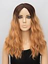chaleur de la mode vague naturelle couleur mixte perruques synthetiques perruques synthetiques resistantes boucles pour les femmes