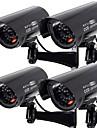 kingneo 4st utomhus dummy kamera simualted övervakning övervakningskamera svart