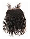 """10""""-20"""" Svart Hel-spets Stora vågor Mänskligt hår Stängning Medium Brun Chinese Lace 60g/piece gram Cap Storlek"""
