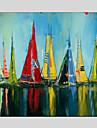 HANDMÅLAD Abstrakt olje~~POS=TRUNC,Parfymerad / Europeisk Stil / Moderna / Klassisk / Traditionellt / Realism / Medelhavet En panel Kanvas
