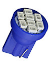 10x blå kil sido t10 W5W 192 194 168 8-SMD LED-lampa instrumentkombinationen ljus