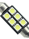10pcs canbus 6smd 5050 36mm feston blanc plafonnier ampoules LED (DC12V)