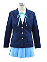 Inspire par K-ON Hirasawa Yui Anime Costumes de cosplay Costumes Cosplay / Uniforme d\'Ecolier / Ecoliere Couleur Pleine BleuManche