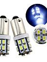 10pcs BA9S 20smd 1206 couleur blanche super brillantes lumieres ampoules de porte (DC12V)