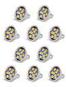 10pcs mr11 9led smd5050 100-150lm 1.5w cald alb / rece alb decorativ dc 12v