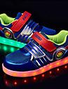 Svart / Blå-Platt klack-Pojkar-Komfort / Rund tå-Tyll-Utomhus-Sneakers