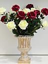 1 1 Une succursale Polyester / Polyurethane Roses Fleur de Table Fleurs artificielles 24.8inch/63cm