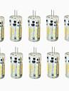 4W G4 LED-lampor med G-sockel T 57 SMD 3014 300-450 LM Varmvit Kallvit Naturlig vit Vattentät Dekorativ DC 24 Batteri DC 12 AC 12 AC 24 V