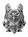 5 Tatueringsklistermärken Djurserier Ogiftig / Mönster / Ländrygg / VattentätDam / Herr / Vuxen Flash tatuering tillfälliga tatueringar
