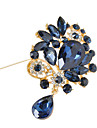 Women\'s Crystal  Flower Brooch for Wedding Party Decoration Scarf ,Fine Jewelry