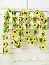 1 Une succursale Polyester Plastique Tournesols Guirlande et Fleur Murale Fleurs artificielles 200(78.8\'\')